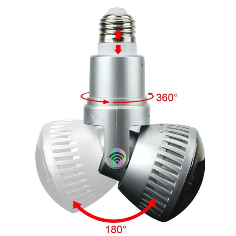 Lights Bulb HD ONVIF WIFI IP CCTV Camera