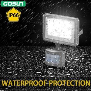 GOSUN 10W PIR LED Motion Sensor Floodlight