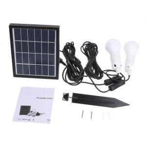 Super Bright Solar Powered Two LED Bulbs Light