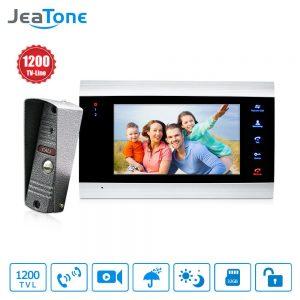 JeaTone 7 inch Video Doorbell Monitor intercom system