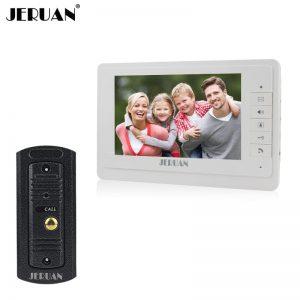 JERUAN 7`` video door phone speaker intercom system