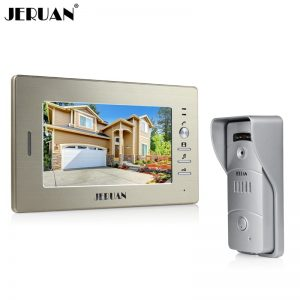 JERUAN 7`` TFT Video door phone Intercom camera system