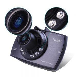 dvr dashcam showing night vision light