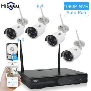 Hiseeu Wireless 960P 4ch NVR CCTV Camera System