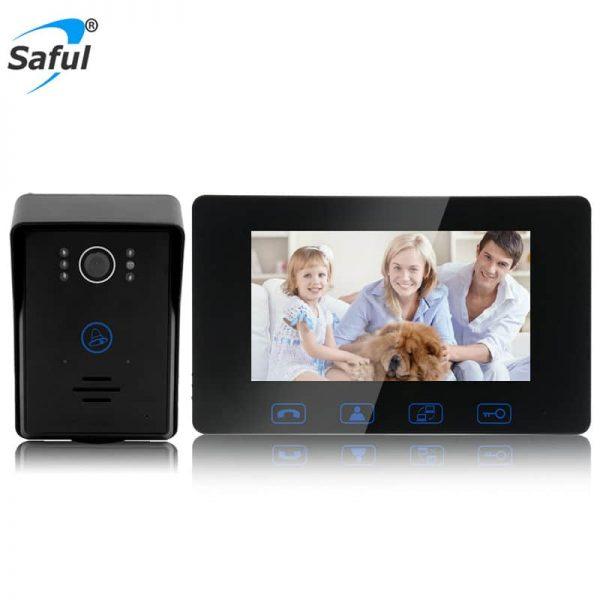 Saful Wired Video Door Phone Night Vision Intercom