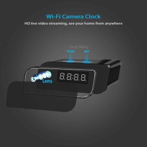 WiFi Wireless IP Security Alarm Clock Camera which has hidden lens