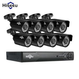 Hiseeu 8CH AHD 1080P IR Bullet CCTV Camera System