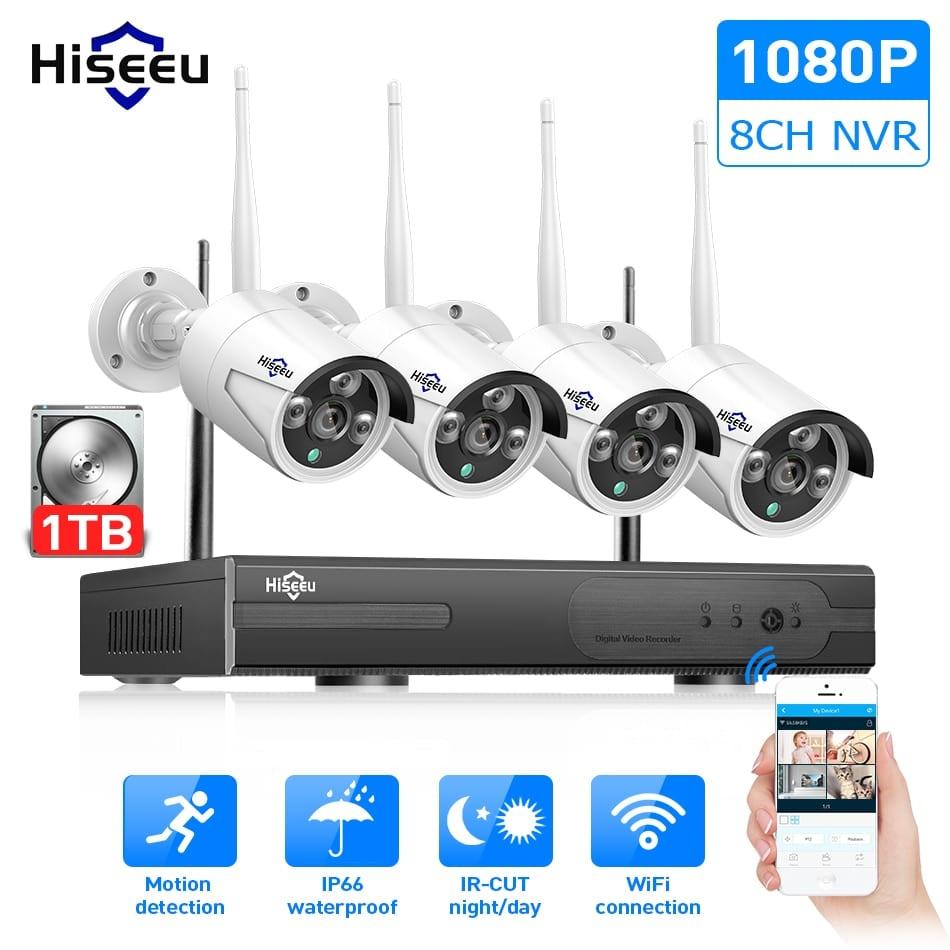 Hiseeu 2MP 8CH Digital 1080P Wireless CCTV System