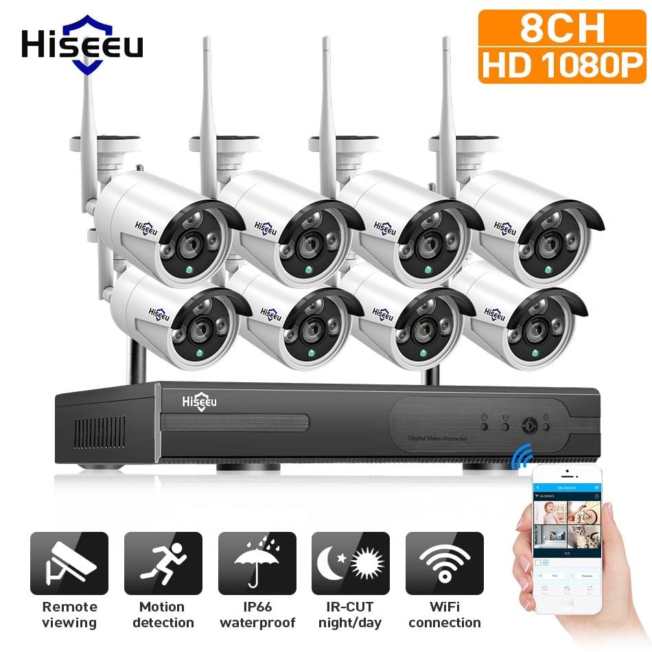 1080P Wireless CCTV System 2M 8ch HD wi-fi NVR kit