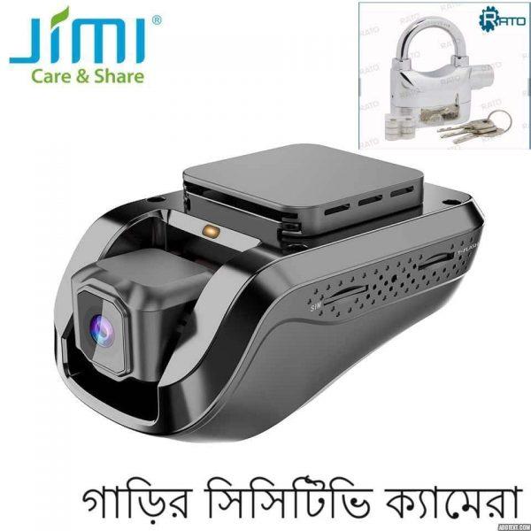 Jimi New JC100 1080P Smart Location Tracker Dash Camera with live mobile monitoring